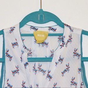 Maeve size 0 sleeveless blouse